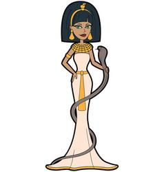 Cartoon egyptian queen cleopatra vector