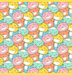 cat smile pattern background vector image