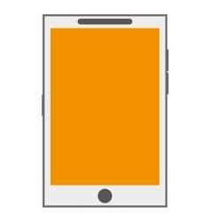 Cellphone yellow screen vector