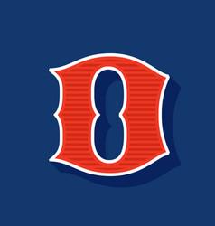Classic style d letter sport logo vector