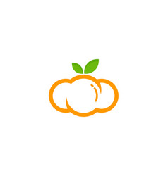 Cloud fruit logo icon design vector