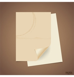 Collection of old paper sheet ready for your vector image