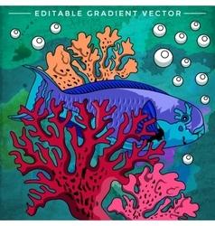 Colorful Aquarium Fish vector image