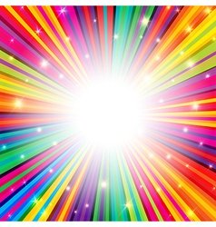 colorful background rays empty vector image
