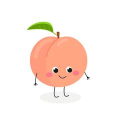 cute cartoon peach vector image