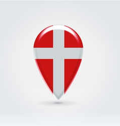 Denmark icon point for map vector image