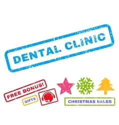 Dental Clinic Rubber Stamp vector