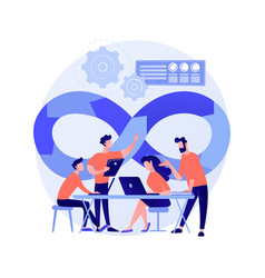 devops team abstract concept vector image