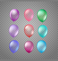 Different color air balloons isolated on vector