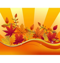 Fall season background vector image