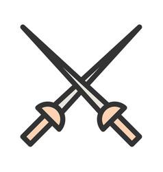 Fencing swords vector