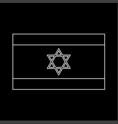 flag of israel white color icon vector image