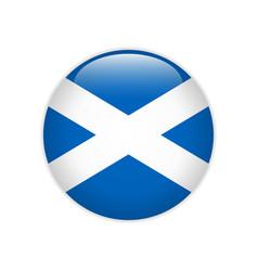 Flag scotland button vector