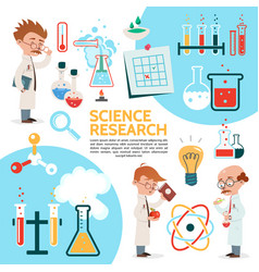 flat science template vector image