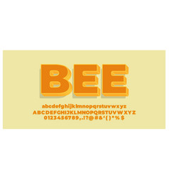 Font style 3d effect yellow and orange modern vector