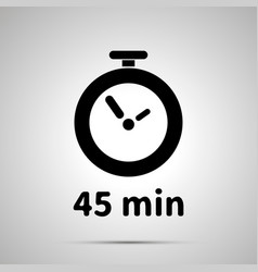 forty five minutes timer simple black icon with vector image