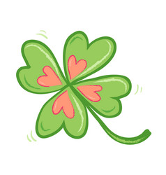 four leaf lucky clover vector image