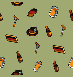 germany color outline isometric pattern vector image
