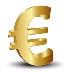 Golden euro icons vector