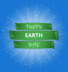 Happy earth day paper poster vector