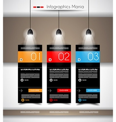 Infographic timeline with Gear mechanic concept vector image