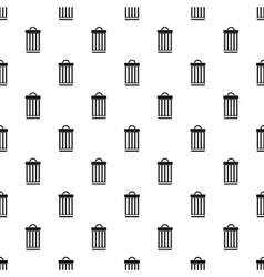 Iron trash can pattern simple style vector