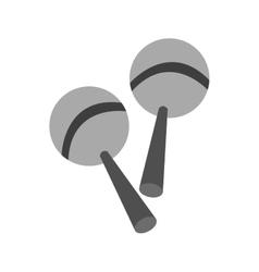 Isolated maraca instrument design vector