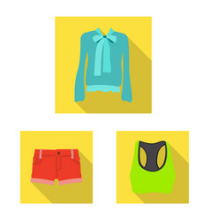isolated object of woman and clothing symbol vector image