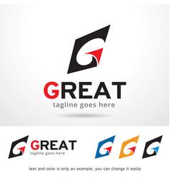 Letter g logo template vector