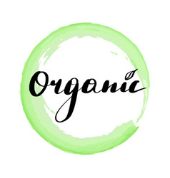 lettering inscription organic vector image
