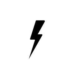 lightning flat icon black vector image
