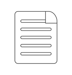 Lined paper document icon vector