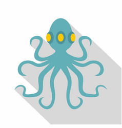 Octopus icon flat style vector