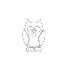owl flat icon vector image