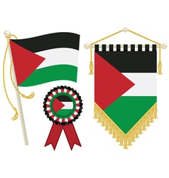 Palestine flags vector