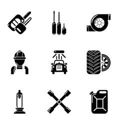 passenger car icons set simple style vector image