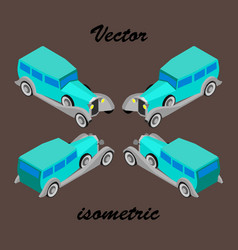 Prestigious car of 30th years in isometry vector