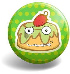Pudding badge vector image