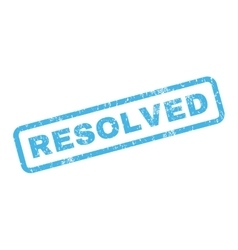 Resolved Rubber Stamp vector image