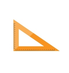 Ruler in a flat style Scale Width and length vector image