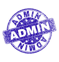 Scratched textured admin stamp seal vector