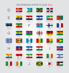 set of sovereign state flags d-j vector image
