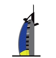 Silhouette Jumeirah Beach Hotel vector image