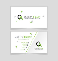 simple business card with initial letter ca vector image