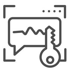 Sound recognition and key line icon voice vector