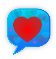 speech bubble heart emoji communication icon vector image
