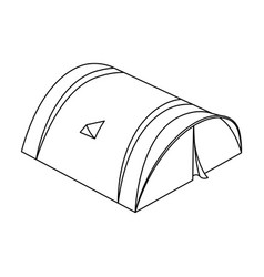The tent is roundtent single icon in outline vector