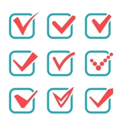 Tick check marks icons vector