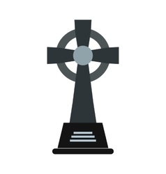 Tombstone icon flat vector