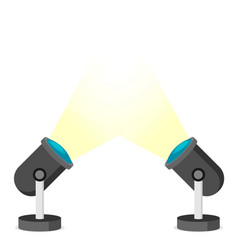 Two spotlights in flat style vector